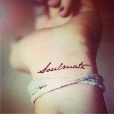 2pcs Soulmate hand script Tattoo  InknArt Temporary by InknArt