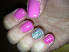 Red Carpet Manicure with accent rockstar nail