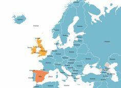Un ananas si aggira per l'Europa Diagram, Map, World, Europe, Pineapple, Location Map, Maps, The World