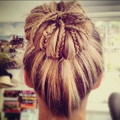 sock bun with braids incorporated... perhaps.