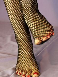 Sexy fishnet feet