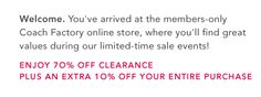 Save at least 70% on Coach Purses! Email me your address and I will send you an invitation to this invite only coach outlet!