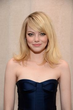 Emma Stone's hair is blonde perfection.