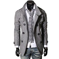 I love a pair of distressed jeans with a jacket and scarf on my man! This awesome outfit needs to be under the Christmas tree this year for him!