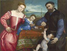 Lorenzo Lotto - Portrait of Giovanni della Volta with his wife and children (1547)   by petrus.agricola