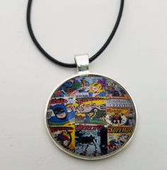 Vintage Comic Book Necklace by LuminousObscurityME on Etsy