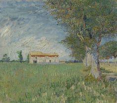 Boerderij in het koren, 1888, Vincent van Gogh, Van Gogh Museum, Amsterdam (Vincent van Gogh Stichting)