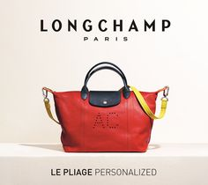 Express your creativity with the Le Pliage Cuir Personalized: you can choose the shape, mix colors, add your initials, and much more! http://us.longchamp.com/pliage/personnaliser