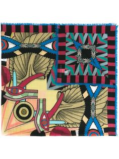 Shop Givenchy abstract print scarf.