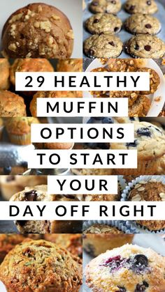 29 Healthy Muffin Options to Start Your Day Off Right - Captain Decor Healthy Fast Food Breakfast, Healthy Muffin Recipes, Healthy Muffins, Breakfast Bake, Healthy Snacks, Healthy Eating, Brunch Recipes, Gourmet Recipes, Breakfast Recipes
