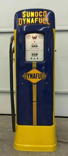 Restored Original Sunoco Script Top Gas Pump