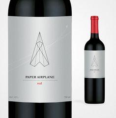Wine label design: Paper Airplane