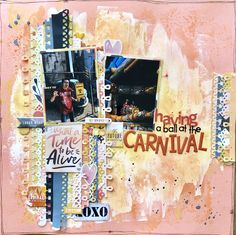 Hip Kit Club, Brave, Carnival, Lay Outs, Scrapbook, Tote Bag, Carnavals, Scrapbooking, Totes