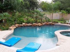 Beach Entry Pool: 15 Beautiful Ideas to Style Up Your Swimming Pool Beach Entry Pool, Backyard Beach, Small Backyard Pools, Backyard Pool Landscaping, Backyard Pool Designs, Beach Pool, Backyard Ideas, Landscaping Design, Zero Entry Pool