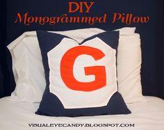 Visual Eye Candy: DIY Monogrammed Pillow BOYS?!!!??