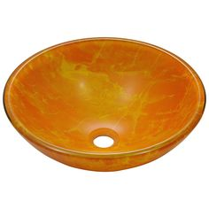 Yellow, Glass, Vessel Bathroom Sinks: Choose from our large selection of bathroom sinks to find the perfect fit for your home. Free Shipping on orders over $45!