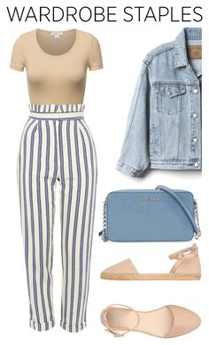 """Wadrobe Staples"" by lesnoyelv ❤ liked on Polyvore featuring Topshop, Gap, 8, Michael Kors and WardrobeStaples"
