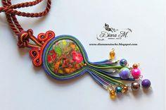 . Soutache Pendant, Soutache Necklace, Pendant Necklace, Latest Discoveries, Some Ideas, Shibori, Beading, Jewelry Accessories, Handmade Jewelry