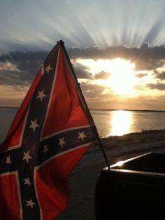 Rebel flag sunset