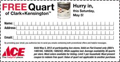 $0 Free Quart of Paint at Ace Hardware with coupon