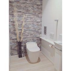 Bathtub, Washroom, House Design, Toilet, Toilet Room, Wood Wallpaper, Room, White Wood Wallpaper, Bathroom