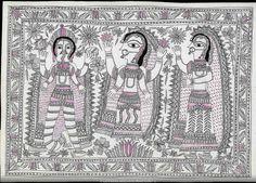 Mithila drawing. Unknown Artist.