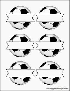 Soccer Snack Tag Printables - write the names of the children in the spaces and attach to their snack or party bag, great for some World Cup crafting too Soccer Birthday Parties, Soccer Party, Sports Party, Baseball Party, Birthday Gifts, Birthday Cards, Theme Sport, Soccer Theme, Soccer Cake