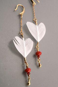 Be Mine ...Ptarmigan feather earrings