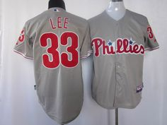 Cliff Lee Grey Road Cool Jerseys $18.99  This jersey belongs to Cliff Lee, Philadelphia Phillies #28  Color:grey, Size: M, L, XL, XXL, XXXL  The jersey is made of heavy fabric with nylon diamond weave mesh