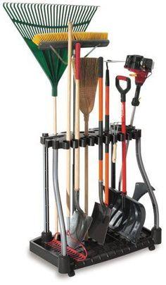 Garden Tool Rack Organizer Portable 40 Tools Huge Cart Storage Yard Work Caddy #Rubermaid