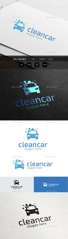 Car Wash  Clean Auto — Vector EPS #template #vector • Available here → https://graphicriver.net/item/car-wash-clean-auto/10493842?ref=pxcr