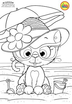 Cuties Coloring Pages for Kids - Free Preschool Printables - Slatkice Bojanke - Cute Animal Coloring Books by BonTon TV Coloring Sheets For Kids, Coloring Pages For Girls, Disney Coloring Pages, Christmas Coloring Pages, Coloring Pages To Print, Free Printable Coloring Pages, Coloring Book Pages, Kids Coloring, Cat Coloring Page