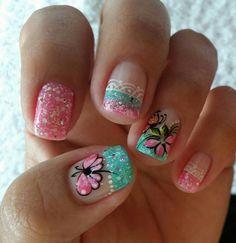 Arte en tus uñas mery Mani Pedi, Nail Designs, Hair Beauty, Lily, Nail Art, Makeup, Margarita, Victoria, Iphone