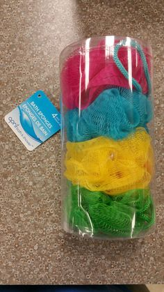Bath Brushes and Sponges: 4 X Bath Sponges Shower Exfoliating Body Brush Wash Puff Spa Loofa -> BUY IT NOW ONLY: $104.94 on eBay!