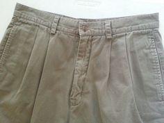 Chaps By Ralph Lauren Men's Casual Shorts 32 Beige Solid Pleated 100% Cotton EUC #ChapsByRalphLauren #CasualShorts #ebay #ChapsByRalphLauren #CasualShorts
