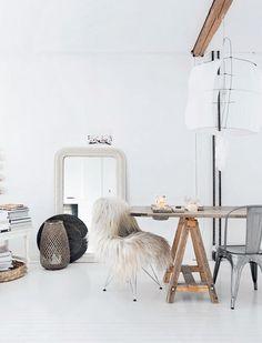 Biely dom v Nórsku   Living styles