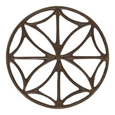 27.5mm Natural Brass Stained Glass Window Component by Vintaj | Fusion Beads