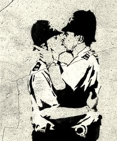 Image discovered by Alison. Find images and videos about love, art and gay on We Heart It - the app to get lost in what you love. Street Art Banksy, Graffiti, Banksy Art, Banksy Prints, Banksy Stencil, Oeuvre D'art, Tattoo Inspiration, Art Pieces, My Arts