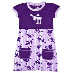 Moose Stripes Toddler Dress