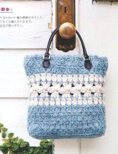 PATRONES GRATIS DE CROCHET: Patrón de un lindo y sencillo bolso a crochet