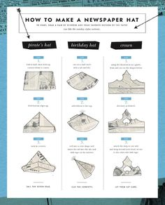 how to make a newspaper hat, from Kate Spade