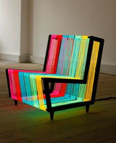 Colorful--wonder if it's comfortable. (Wonder if it's meant to be sat on.)
