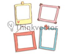 Cute Frame Doodle - Think Vector   Available for download on thinkvector.com for just $9.00. Search & download high quality clipart & stock vector in pocket friendly prices