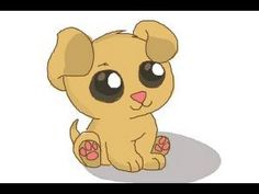 Puppy drawing step by step how to draw a puppy step 9 cute puppies drawings easy . Small Puppies, Baby Puppies, Cute Puppies, Cute Dogs, Puppy Drawing Easy, Chibi Dog, Anime Puppy, Drawing Lessons For Kids, Drawing Ideas