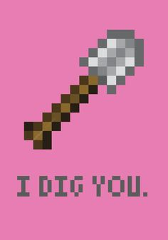 Minecraft Valentine'S Day Cards My Funny Valentine, Valentine Day Cards, Minecraft Quilt, Minecraft Party, Geek Games, Minecraft Projects, Platypus, Cool Tech, Puns