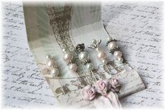 Mini Matchbook Stick Pins Shabby Chic for Scrapbooking or Cardmaking.