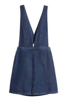 40$ Robe à bretelles en denim | H&M