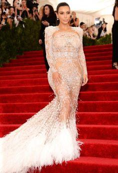 Kim Kardashian made fashion history last night.
