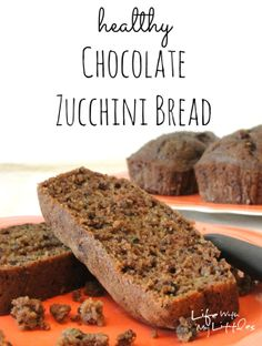 Chocolate Zucchini Bread: Healthy, delicious, moist, and with 2 whole zucchinis!