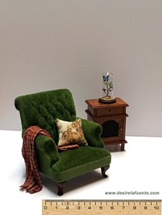 Miniature armchair - 1/12 scale